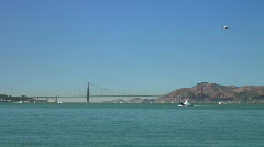 Golden Gate Bridge and Marin Headlands Stock Footage