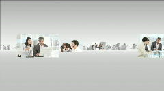 Montage footage showing the concept of teamwork in Business Stock Footage