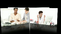 Stress in the workplace - stock footage