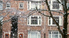 Snow in Amsterdam Stock Footage