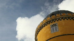 Pena Palace and Clouds - Sintra, Portugal Stock Footage
