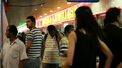 Little India Shopping Stock Footage