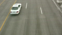 Cars Shot From Above 3 Stock Footage
