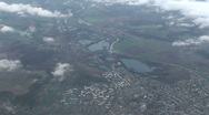 Airplane View: City Stock Footage