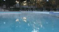 Stock Video Footage of Foggy Mist Rises Of Heated Swimming Pool 01