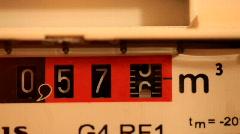 Gas meter Stock Footage