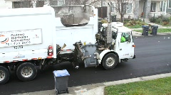City Waste Garbage Truck Stock Footage