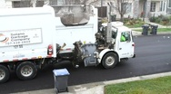 Stock Video Footage of City Waste Garbage Truck