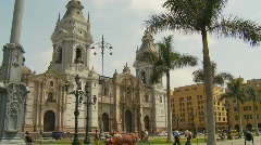 Plaza mayor, Lima - the birthplace of the city of Lima, as well as its core - stock footage