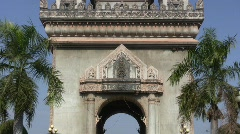 Patuxay Arch, Vientiane, Laos Stock Footage
