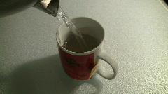 Pour Hot Tea Stock Footage