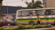 Commuter traffic, big city Stock Footage
