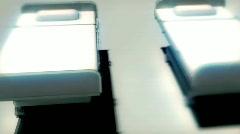 114 Hospital beds track short CGI Stock Footage