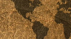 World Map Leather - stock footage