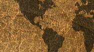 World Map Leather Stock Footage