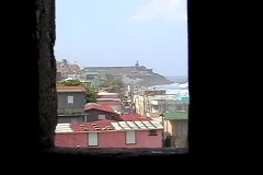 Vigilance post view of Fort- Puerto Rico - stock footage