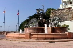 Old San Juan Fountain-Puerto Rico Stock Footage