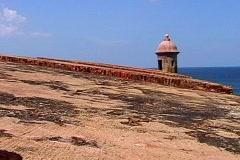Vigilance post of Fort- Puerto Rico - stock footage