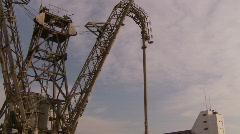 Dockside crane, tilt Stock Footage