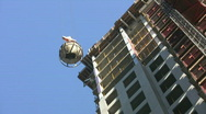 Condo construction. Two shots.  Stock Footage