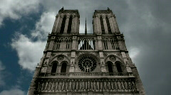 Notre-Dame  Cathedral,  Paris Stock Footage