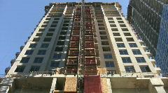Condo construction. Elevator.  Stock Footage