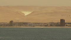 Dry desert coast of Northern Chile, Arica Stock Footage