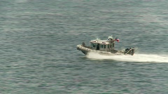 Chilean patrol boat Stock Footage