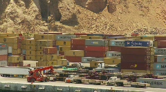 Container terminal port - Arica, Chile, #1 Stock Footage