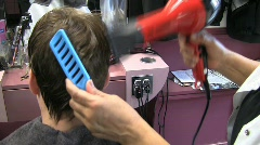 bs blow dry blue brush 10s - stock footage