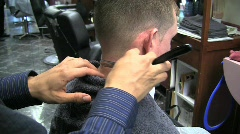bs straight razor neck silent 10s - stock footage