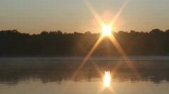 Sunrise over Minnesota Lake 2 - stock footage