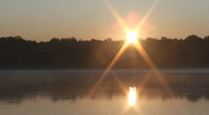Sunrise over Minnesota Lake 2 Stock Footage