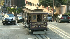 Trolley in San Francisco - stock footage