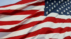 American flag- the Stars and Stripes Stock Footage