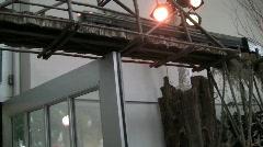 Usbg overhead train door lights silent 18s Stock Footage