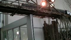 Usbg overhead train door lights 18s Stock Footage