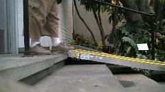 Usbg ramp stairs walking silent 25s Stock Footage