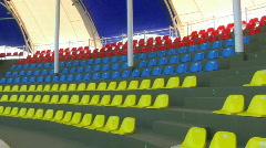 HD Panorama of empty auditorium - stock footage