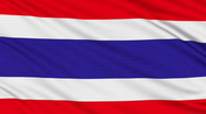 Thai flag, with real structure of a fabric Stock Footage