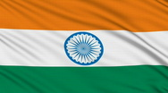 Stock Video Footage of Indian flag, with real structure of a fabric