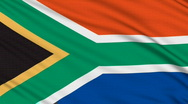 Stock Video Footage of South Africa flag, with real structure of a fabric