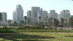 San Diego Skyline - stock footage