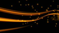 Golden Light Streaks - stock footage