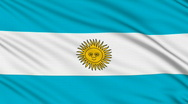 Stock Video Footage of Argentinian flag, with real structure of a fabric