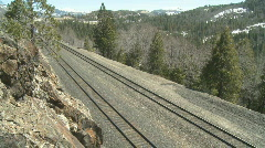 Train over Donner Pass Stock Footage