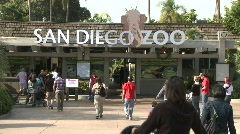 San Diego Zoo Entrance - stock footage