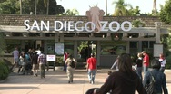 Stock Video Footage of San Diego Zoo Entrance