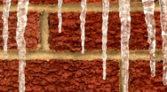 Dripping Icicles 1311 Stock Footage