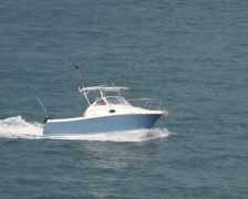 Recreational Boat - stock footage